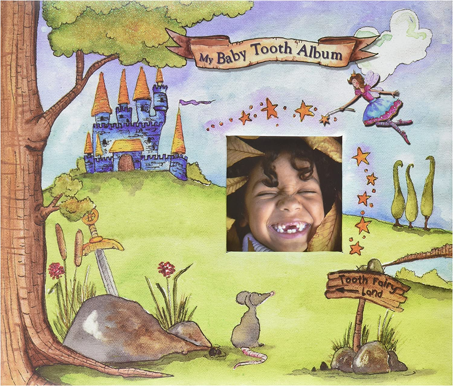 Baby Tooth Album-Baby Tooth Memory Book - bluee