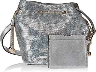 Zeneve London Womens Bucket Bag, Silver - 1198587000