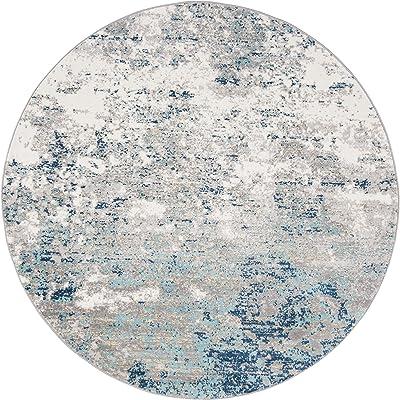 Safavieh Brentwood Collection BNT822F Runner, 2' x 8', Light Grey/Blue