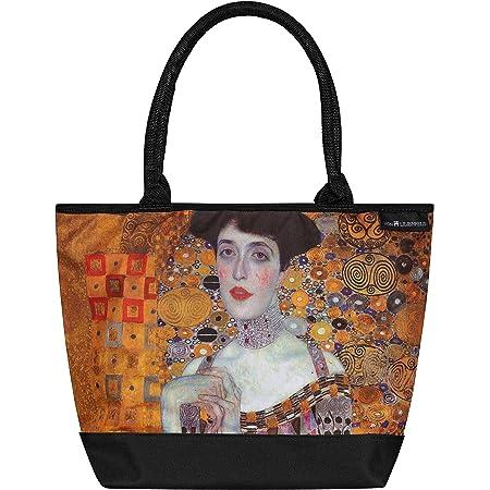 VON LILIENFELD Handtasche Damen Kunst Motiv Gustav Klimt Adele Shopper Maße L42 x H30 x T15 cm Strandtasche Henkeltasche Büro