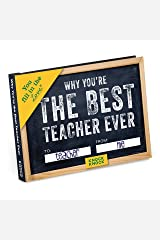 Knock Knock Why You're the Best Teacher Ever Fill in the Love Book Fill-in-the-Blank Gift Journal (You Fill in the Love) Hardcover
