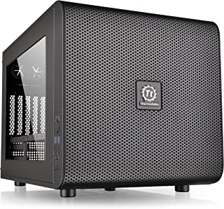 Thermaltake Core V21 SPCC Micro ATX Cube Computer Chassis CA-1D5-00S1WN-00