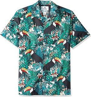 f08babfd0 Amazon Brand - 28 Palms Men's Standard-Fit 100% Cotton Tropical Hawaiian  Shirt