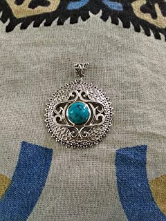 Blue Turquoise Pendant 925 Sterling Silver, Birthstone Necklace, Vintage Style, Blue Turquoise Jewelry, Boho Layering Pendant, Beautiful Silver Work, Jewelry For Her, Fine Jewelry, Extremely Unusual Pendant, Boho Layering Pendant, Beautiful Silver Work, Gift Wife, Wedding & Engagement Pendant, Boho & Hippie Jewelry, One Of A Kind, Gift For Her, Healing Crystal, Promise Pendant, Valentines Day Gift Jewelry, Boho Love Pendant