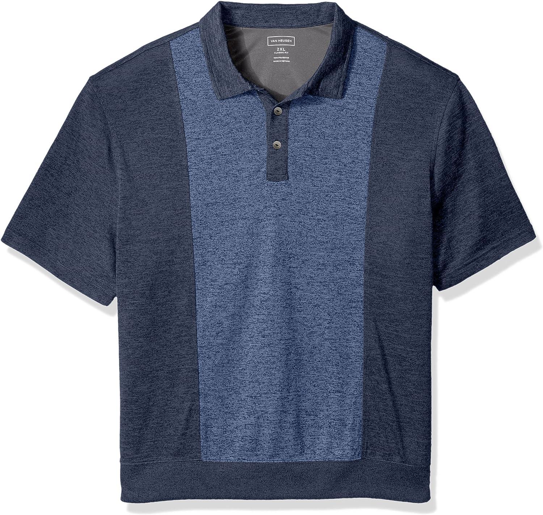 Van Heusen Men's Big and Tall Air Short Sleeve Fleece Blocked Polo Shirt