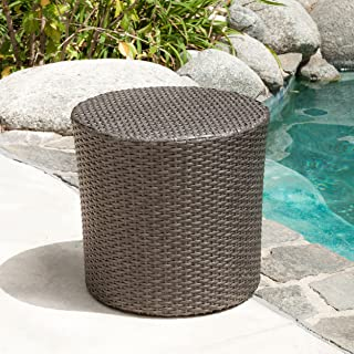 Best small outdoor wicker side table Reviews