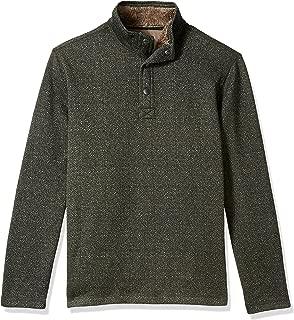 Men's Madawaska Long Sleeve 1/4 Snap Neck Sweater Fleece Pullover