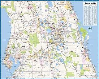 Central Florida Laminated Wall Map (52