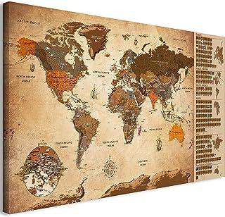 murando - Mapamundi para rascar - Mapa Mundial - 90x45 cm -