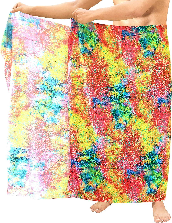LA LEELA Womens Plus Size Swimwear Wraps Sarong Cover Up Dress Wrap Full Long C