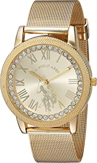 Women's Analog-Quartz Watch with Alloy Strap, Gold, 18...