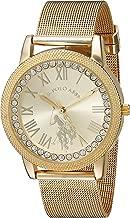 U.S. Polo Assn. للنساء من سبيكة معدنية و الكوارتز ساعة كاجوال ، اللون: gold-toned (موديل: usc40110)