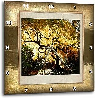 3dRose dpp_34033_1 Bonsai Japanese Maple Wall Clock, 10 by 10-Inch