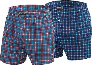 Sesto Senso Mens PJ Bottom Pyjama Shorts Checked Cotton 2 Pack Sleepwear Nightwear