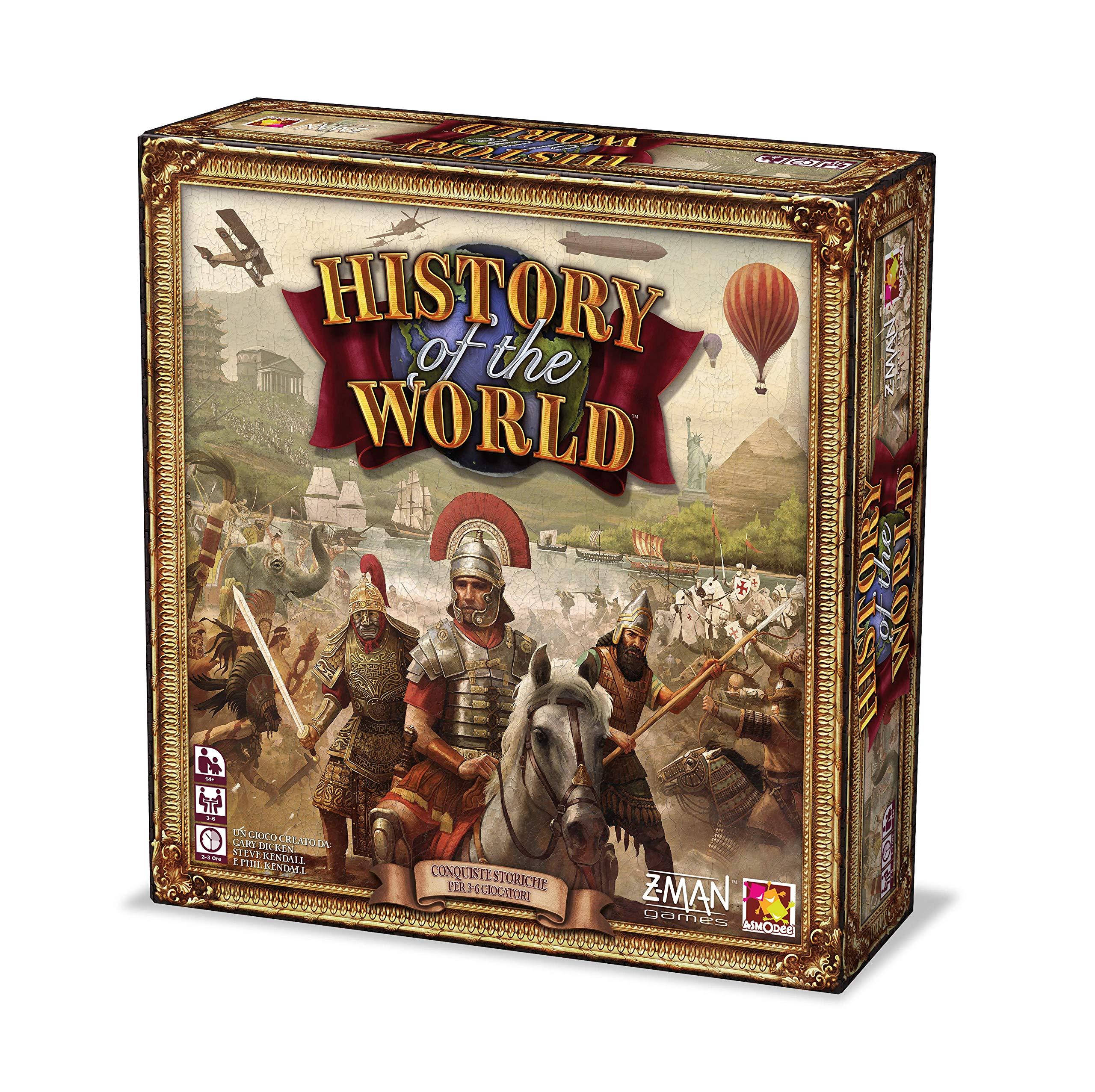 Asmodee History of The World-Juego de Mesa edición en Italiano (9750 Italia), Color, iZM005: Amazon.es: Juguetes y juegos