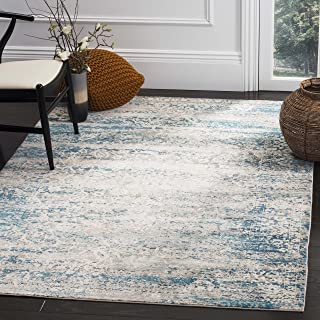 Safavieh Aria Collection Abstract Area Rug, 8' x 10', Blue/Crème