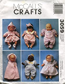 McCall's 3059 Crafts Sewing Pattern Baby Doll Clothes