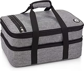 VP Home Double Casserole Insulated Travel Carry Bag (Heather Gray)