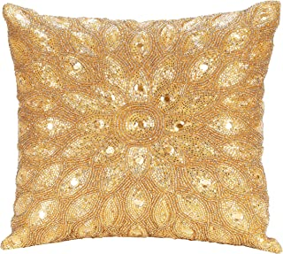 Light & Pro Hand Beaded Decorative Pillow Cover -12