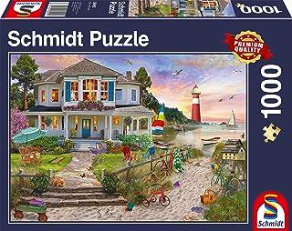 Schmidt Spiele 58990 Het strandhuis, puzzel met 1000 stukjes, kleurrijk