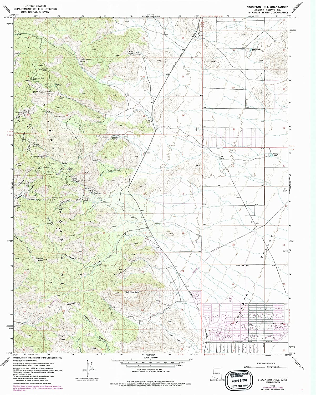 YellowMaps Stockton Hill AZ topo map 2020 Scale Our shop most ...