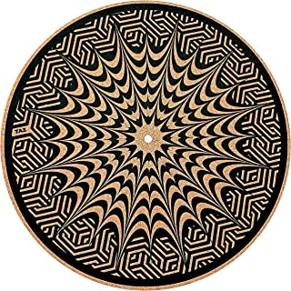 Premium Turntable Slipmat by TAZstudio - Specially designed Cork. psychedelic geometric Ear fish, vinyl turntable mat