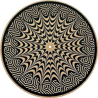 Premium Turntable Slipmat by TAZstudio - Specially designed Cork. psychedelic geometric Ear fish, vinyl turntable mat