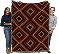 Pure Country Weavers - Chevron Southwest Blanket - Woven Tapestry Camp Throw with Fringe Cotton USA 72x54