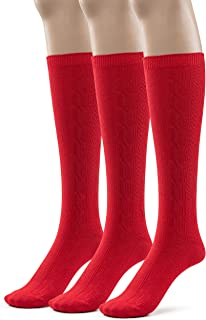 Best girls knee high socks red Reviews