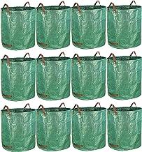 gardzen 12-Pack 72 Gallon Yard Waste Bags - Reuseable Heavy Duty Gardening Bags, Lawn Pool Garden Leaf Waste Bag