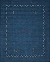 Safavieh Himalaya Collection HIM583A Handmade Blue Premium Wool Area Rug (8' x 10')