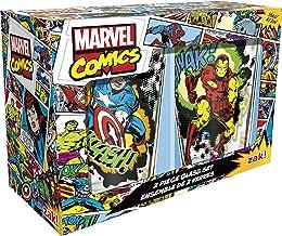 Zak! Designs Pint Glass Tumblers, Marvel Comics Universe, Set of 2, 16 oz. capacity