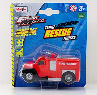 Maisto Rescue Fire Truck with lights - Red