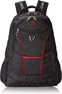 Swiss Gear SA1775 Black with Red Accents Laptop Backpack - Fits Most 15 Inch Laptops and Tablets