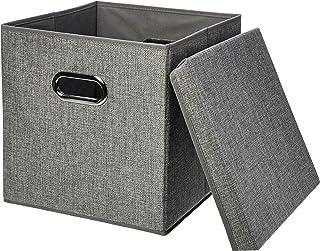 Amazon Basics Cubes de rangement pliables en toile de jute - Lot de 2