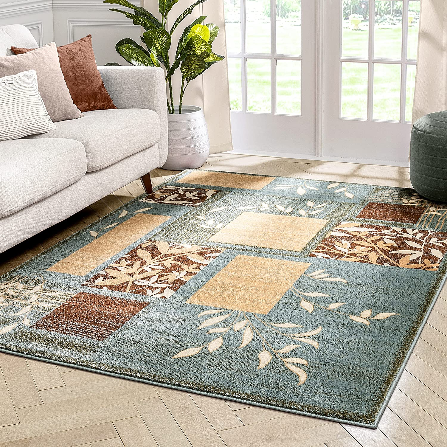 excellence Well Woven Barclay Hannover outlet Light Blue Area Rug 3'11'' Formal X