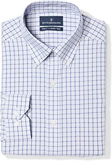 Amazon Brand - BUTTONED DOWN Men's Tailored Fit Check Non-Iron Dress Shirt