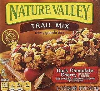 Nature Valley Chewy Trail Mix, Dark Chocolate Cherry Granola Bars 7.4 Oz (Pack of 4)
