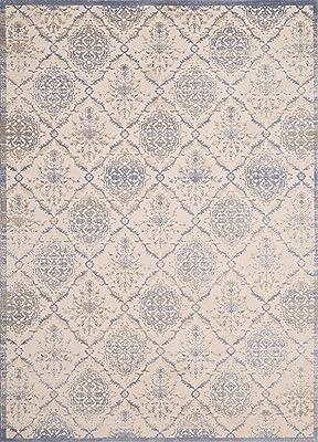 "United Weavers of America Dais Collection Elegant Trellis Area Rug, 1'11"" x 7'2"", Light Blue"