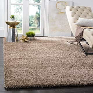 Safavieh Milan Shag Collection SG180-1414 Dark Beige Area Rug (8' x 10')
