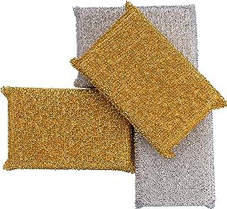 C-lean House tampon brillant professionnel spécialement conçu pour les taches tenaces - En set de 4 - L'éponge à plâtre Lu...