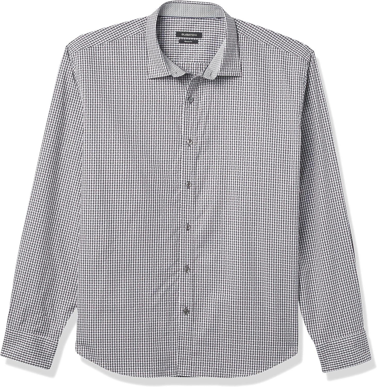 Bugatchi Men's Classic Shirt 2021 model Fashion Challenge the lowest price