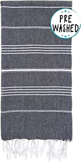 Wetcat Original Turkish Beach Towel (37 x 70) - Prewashed Peshtemal, 100%