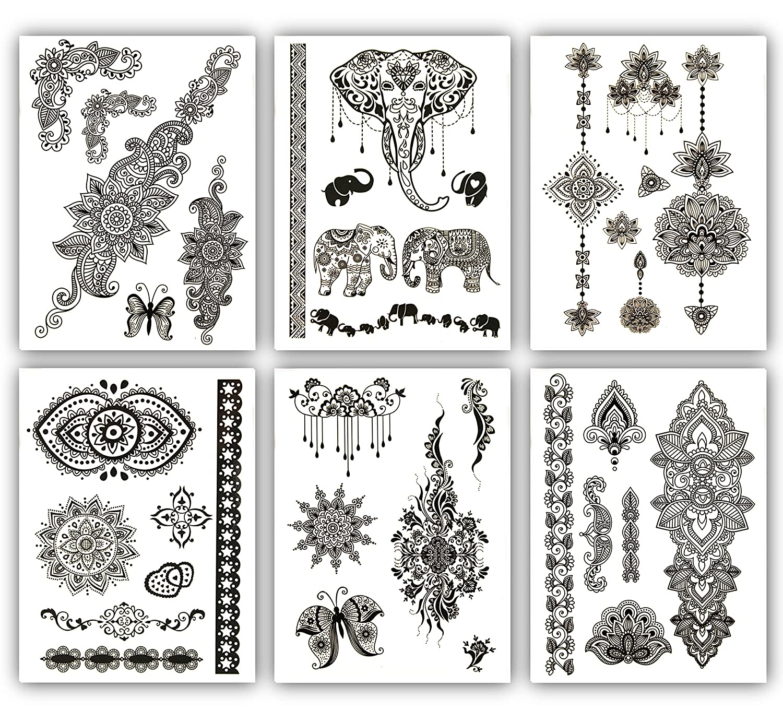 Terra Tattoos Black depot Mehndi Henna Inspired Max 83% OFF 50+ Temporary