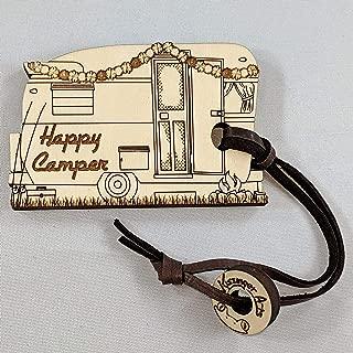 Happy Camper Luggage Tag Small