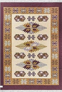GAD Southwestern Area Rug Bohemian Flat Weave Throw Rug Yoga Mat (5'3