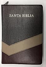 RVR 1960 Biblia Letra Gigante con Referencias con indice, con cierre, simil piel marron/tostado/bonceado