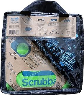 旅行用洗濯袋 Scrubba Washbag スクラバ ウォッシュバッグ 便利トラベルグッズ キャンプ 携帯用洗濯袋 (ウォッシュバッグ, 緑) (緑, ウォッシュキット)