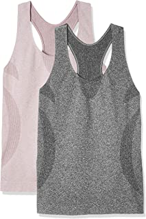 Workout Tank Tops for Women - Racerback Athletic Yoga Tops, Running Exercise Gym Shirts(Pack of 2)