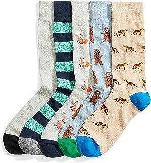 Goodthreads Men's Standard 5-Pack Patterned Sock Set